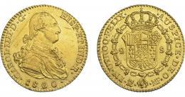 838  -  CARLOS IV. 2 escudos. 1800. Madrid. MF. VI-1049. Rayitas en anv. MBC+/EBC-.