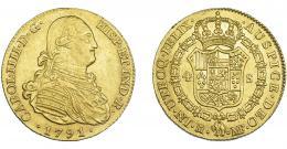 840  -  CARLOS IV. 4 escudos. 1791. Madrid. MF. VI-1195. MBC+/EBC.