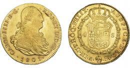 842  -  CARLOS IV. 4 escudos. 1801. Madrid. FA. VI-1200. MBC+/EBC. R.B.O.