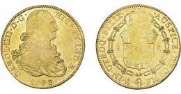 846  -  CARLOS IV. 8 escudos. 1793. México. FM. VI-1329. Acuñación floja. R.B.O. MBC.