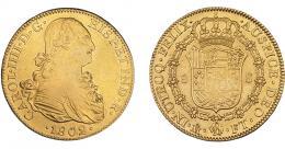 848  -  CARLOS IV. 8 escudos. 1802. México. FT. VI-1339. R.B.O. MBC/MBC+.