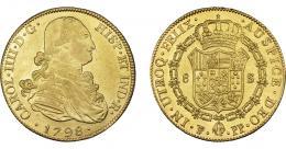 858  -  CARLOS IV. 8 escudos. 1798. Potosí. PP. VI-1401. R.B.O. MBC+/EBC.