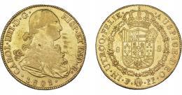 859  -  CARLOS IV. 8 escudos. 1801. Potosí. PP. VI-1404. Pequeñas marcas. R.B.O. MBC/MBC+.