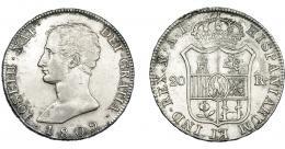 864  -  JOSÉ I NAPOLEÓN. 20 reales. 1809. Madrid. AI. VI-30. Leves oxidaciones. MBC+.