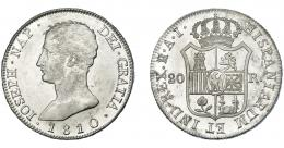 865  -  JOSÉ I NAPOLEÓN. 20 reales. 1810. Madrid. AI. VI-31. B.O. EBC+/SC.