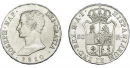 867  -  JOSÉ I NAPOLEÓN. 20 reales. 1810. Madrid. AI. VI-31. EBC-.