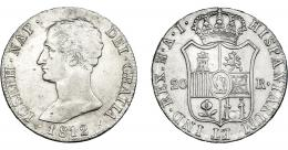 868  -  JOSÉ I NAPOLEÓN. 20 reales. 1812. Madrid. AI. VI-35. Pequeñas marcas. EBC-.