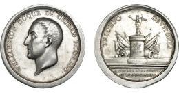 871  -  FERNANDO VII. Medalla. 1813. Wellington, duque de Ciudad Rodrigo. AR 46,5 mm. 64,17 g. Grabador Sagau. MPN-447. Limaduras en canto a las 7 h. EBC-.