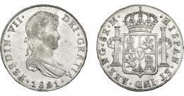 876  -  FERNANDO VII. 8 reales. 1821. Nueva Guatemala. M. VI-1033. R.B.O. MBC+/EBC-.