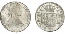 877  -  FERNANDO VII. 8 reales. 1811. Lima. JP. VI-1040. Leves oxidaciones y pequeñas marcas. R.B.O. EBC-.