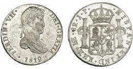 878  -  FERNANDO VII. 8 reales. 1812. Lima. IP. VI-1043. B.O. EBC.