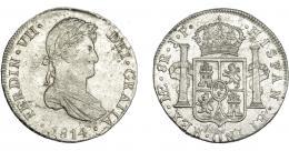 880  -  FERNANDO VII. 8 reales. 1814. Lima. JP. VI-1045. B.O. EBC-/EBC.