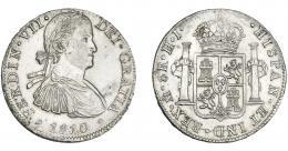 883  -  FERNANDO VII. 8 reales. 1810. México. HJ. VI-1086. Pequeñas erosiones y marcas. MBC+/EBC-.