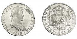 885  -  FERNANDO VII. 8 reales. 1813. México. JJ. VI-1092. Oxidaciones limpiadas. MBC.