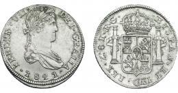 890  -  FERNANDO VII. 8 reales. 1821. Zacatecas. RG. VI-1209. MBC+.