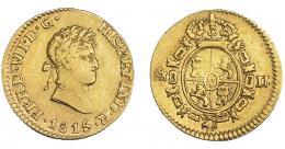 893  -  FERNANDO VII. 1/2 escudo. 1815/4. México. JJ. VI-1224. Vano en rev. MBC/MBC+. Muy escasa.