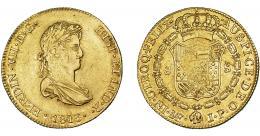 898  -  FERNANDO VII. 8 escudos. 1813. Lima. JP. VI-1465. R.B.O. MBC/MBC+. Escasa.