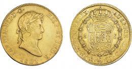 899  -  FERNANDO VII. 8 escudos. 1821. México. JJ. VI-1495. R.B.O. MBC/MBC+.
