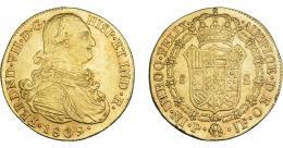 901  -  FERNANDO VII. 8 escudos. 1809. Popayán. JF. VI-1511. Rayitas. R.B.O. MBC+.