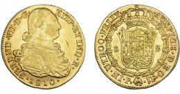 902  -  FERNANDO VII. 8 escudos. 1810. Popayán. JF. VI-1512. Rayita en anv. MBC/MBC+.