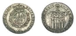 906  -  ISABEL II. Medalla. Proclamación. 1833. Segovia. 5 arcos. H-31 vte. metal.  AR. 24,5 mm. MBC+.
