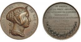 910  -  ISABEL II. Medalla. Orden militar de San Fernando. 1847. Grabador Pingret. AE 56,5 mm. MPN-664. EBC-.