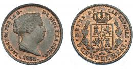 921  -  ISABEL II. 5 céntimos de real. 1859. Segovia. VI-125. B.O. SC.