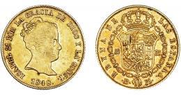 924  -  ISABEL II. 80 reales. 1848. Barcelona.PS. VI-591. MBC/MBC+. Rara.