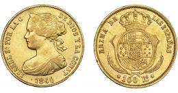 931  -  ISABEL II. 100 reales. 1860. Sevilla. VI-660. EBC-.