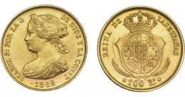 932  -  ISABEL II. 100 reales. 1862. Sevilla. VI-662. EBC-.