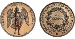 942  -  ALFONSO XII. Medalla. Real Academia de Ciencias Morales y Políticas. Grabador: L. Marchionni. AE 45 mm. SC.