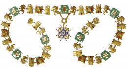 948  -  ALFONSO XIII. Collar de la Real Orden de Carlos III. Época de Alfonso XIII.