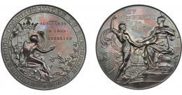 949  -  ALFONSO XIII. Medalla 1895. Ayuntamiento constitucional de Barcelona. 1895. En campo