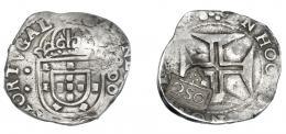 981  -  COLECCIÓN DE RESELLOS. BRASIL. 250 reis. Resello 250 sobre 200 reis de Portugal. KM-33. MBC.