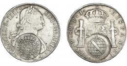 987  -  COLECCIÓN DE RESELLOS. BRASIL. 960 reis resello bifacial sobre 8 reales 1804 Potosí PJ. KM-251. Gomes-115.02. La moneda MBC-, los resellos MBC+.