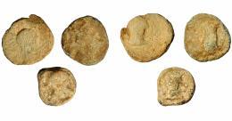 1148  -  HISPANIA ANTIGUA. CARISA. Semis. A/ Cabeza de Hércules con leonté a der. R/ Jinete con rodela y clámide a izq., debajo CARISSA. AE 4,77 g. 17,4 mm. I-446. ACIP-2518.  MBC-/BC+. Rara. Ex Áureo, 17-4-2002, lote 3173.