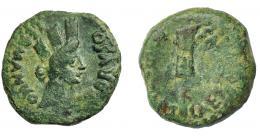 1226  -  HISPANIA ANTIGUA. CARTEIA. Tiberio. Cuadrante. . A/ Cabeza femenina con corona turriforme a der.; GERMANICO ET DRVSO. R/ Timón; CAE(SARIB)VS- (IIII VIR CART). AE4,38 g. 19,4 mm. I-686. APRH-123. ACIP-3306. Pequeñas marcas. Pátina verde. BC+.