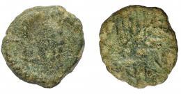 1055  -  HISPANIA ANTIGUA. BAICIPO. Semis. A/ Racimo de uvas, a izq. S. R/ Espiga a der., debajo BAI(CIP). AE 3,28 g. 18,1 mm.  I-183. ACIP-2507. RC.