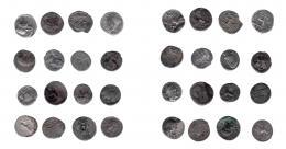 103  -  REPÚBLICA ROMANA. Lote de 16 denarios. De RC a BC.