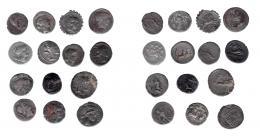 104  -  REPÚBLICA ROMANA. Lote de 14 denarios, uno de ellos forrado. De BC+ a MBC-.
