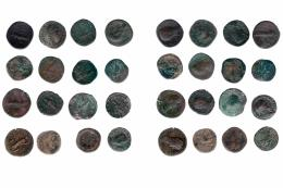 142  -  IMPERIO ROMANO. Lote de 16 sestercios: Adriano (2), Faustina la Mayor (1), Antonino Pío (2), Marco Aurelio (2), Cómodo (5), Otacilia (1), Filipo I (1) y Gordiano III (2). BC-/MBC-.