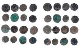 145  -  IMPERIO ROMANO. Lote de 16 follis, de módulo medio y grande. De RC a MBC+.