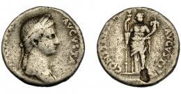 152  -  ANTONIA (bajo Claudio I). Denario. Roma (41-45 d.C.) .A/ Busto laureado y drapeado a der.; ANTONIA AVGVSTA. R/ Ceres de frente con antorcha y cornucopia; CONSTATI(AE) AVGVSTI. AR 3,47 g. 18 mm. RIC-66. BC+. Erosión. Rara.