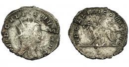 206  -  IMPERIO ROMANO. GALIENO. Antoniniano. Roma (267-268). R/ Grifo a izq.; APOLLONI CONS AVG. VE 3,37 g. 21,5 mm. RIC-165. MBC/MBC. Grieta.
