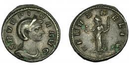 210  -  IMPERIO ROMANO. SEVERINA. Denario. Roma (270-275). R/ Venus a izq., con ¿Cupido? mano, y cetro; VENVS FELIX. RIC-6. MBC-.