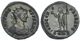 213  -  IMPERIO ROMANO. PROBO. Antoniniano. Roma (281). R/ Júpiter con haz de rayos y cetro; IOVI CONS PROB AVG. VE 4 g. 21,10 mm. RIC-173. EBC-/MBC.
