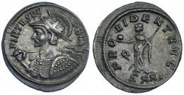 216  -  IMPERIO ROMANO. PROBO. Antoniniano. Ticinum (276). R/ Providentia a izq. con cetro y globo; PROVIDENT AVGG, exergo SXXI. VE 4,13 g. 23,11 mm. RIC-491. MBC+/MBC.