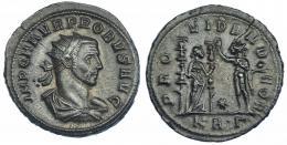 217  -  IMPERIO ROMANO. PROBO. Antoniniano. Serdica (276-282). R/ Providentia con dos signa a der., enfrente Sol; PROVIDEN DEOR. VE 4,5 g. 24,09 mm. RIC-845. MBC.