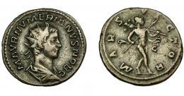 224  -  IMPERIO ROMANO. NUMERIANO. Antoniniano. Lugdunum (283-284). R/ Marte avanzando a der. con lanza y trofeo; MARS VICTOR. VE 4,32 g. 22,51 mm. RIC-386. BC+.