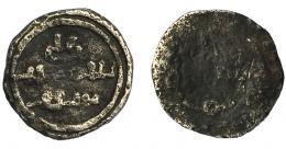 239  -  ACUÑACIONES HISPANO-ÁRABES. ALMORÁVIDES. 1/2 quirate. Alí B. Yusuf y el Amir Sir. Sin ceca. AR 0,46 g. 9,29 mm. Benito-Cd3. BC.